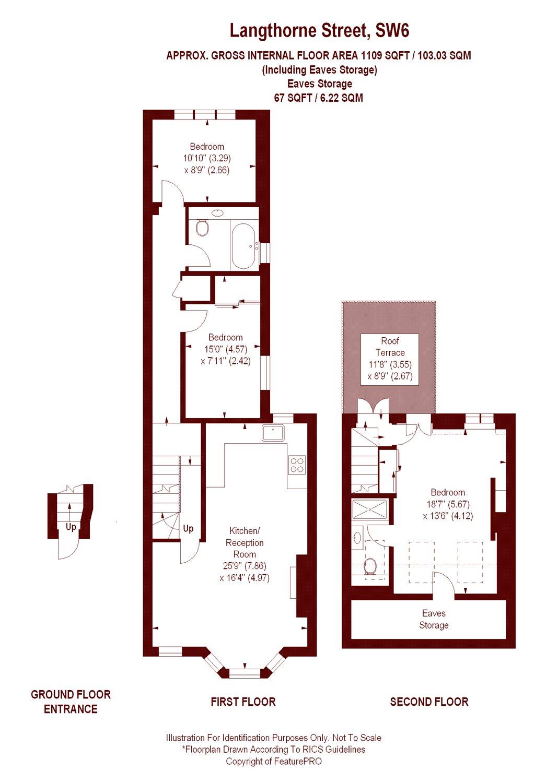 3 bedroom langthorne street london sw6 property for sale for 1200 post oak floor plans