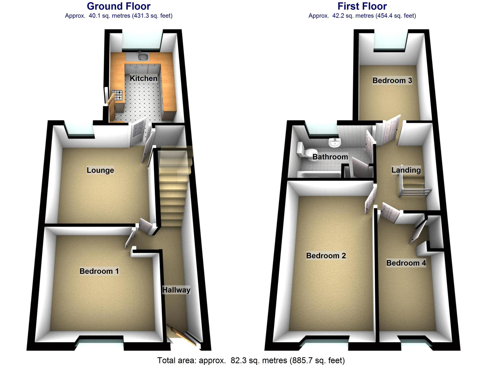 4 bedroom property for sale in princess street treforest for Q kitchen pontypridd