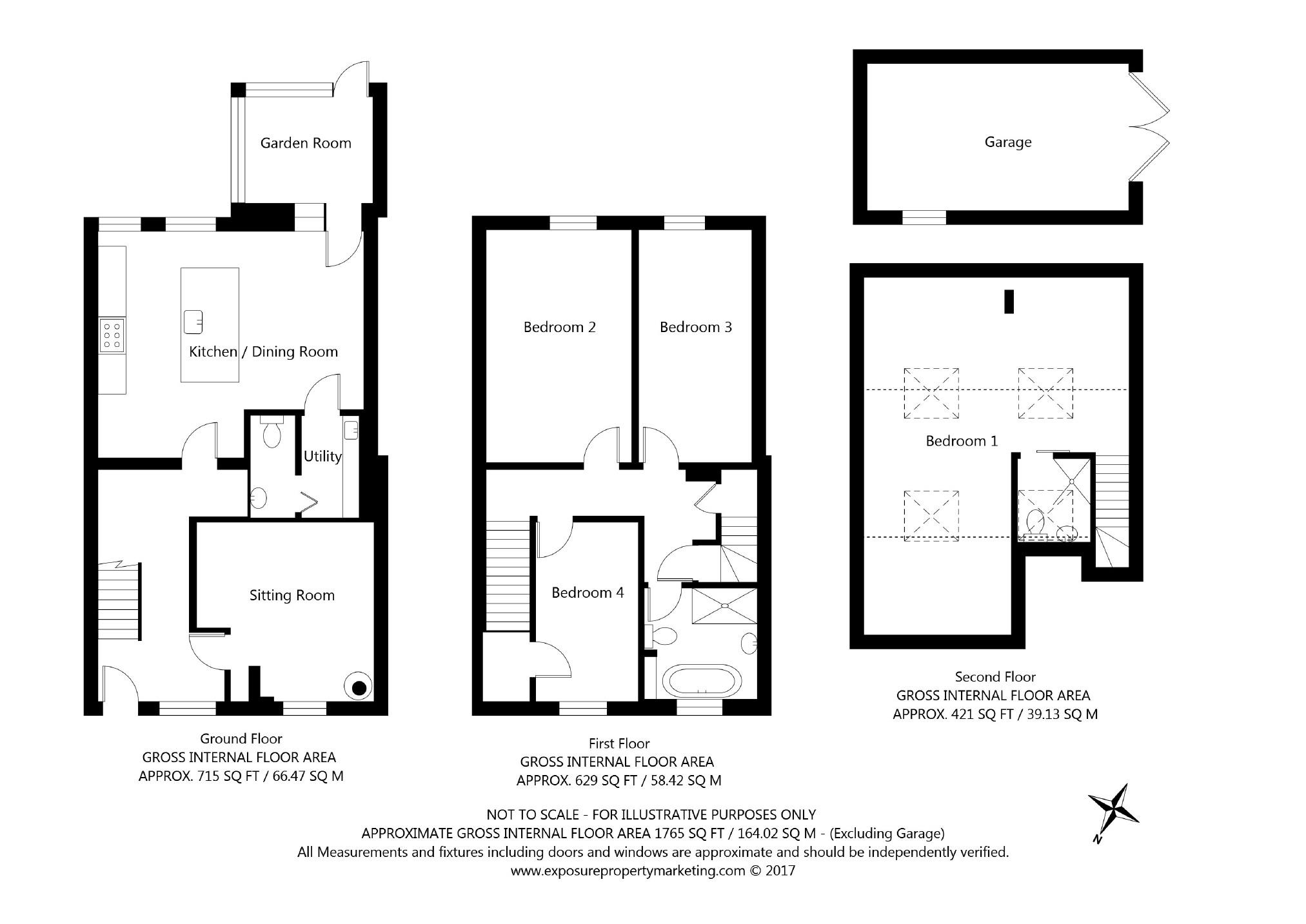 4 bedroom property for sale in school lane collingham for 1125 maxwell lane floor plans
