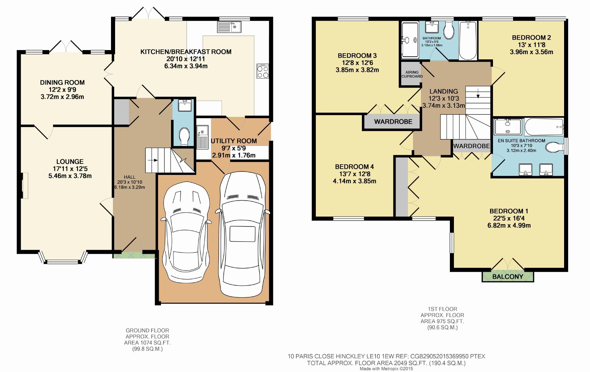 4 bedroom property to let in paris close hinckley £1295 pcm