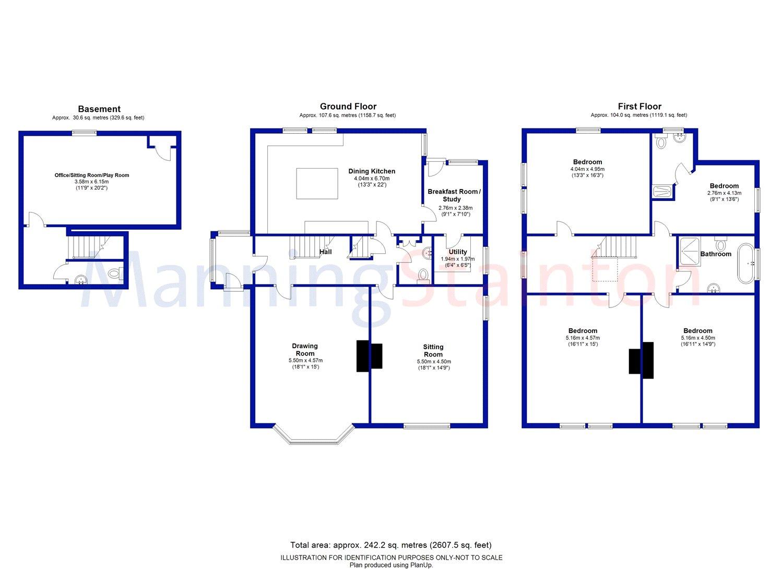 Lidgett Park Avenue Roundhay Leeds LS8 865000 Sold Floorplan