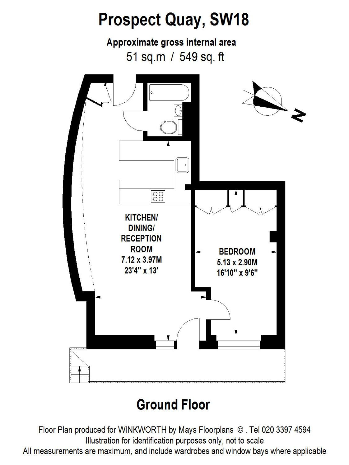 1 bedroom property for sale in Prospect Quay, 98 Point Pleasant ...