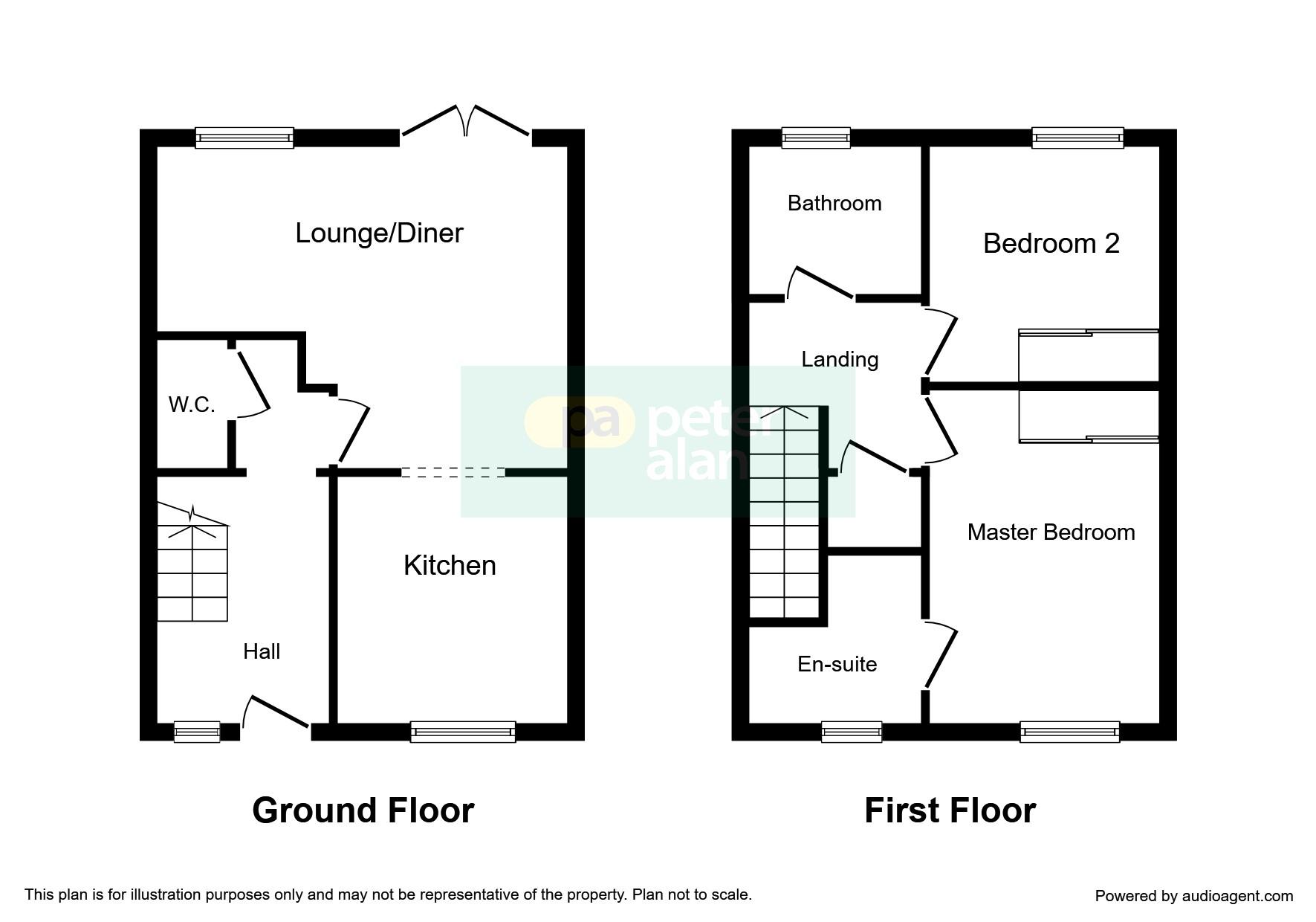 2 bedroom property for sale in brynteg green beddau for Q kitchen pontypridd
