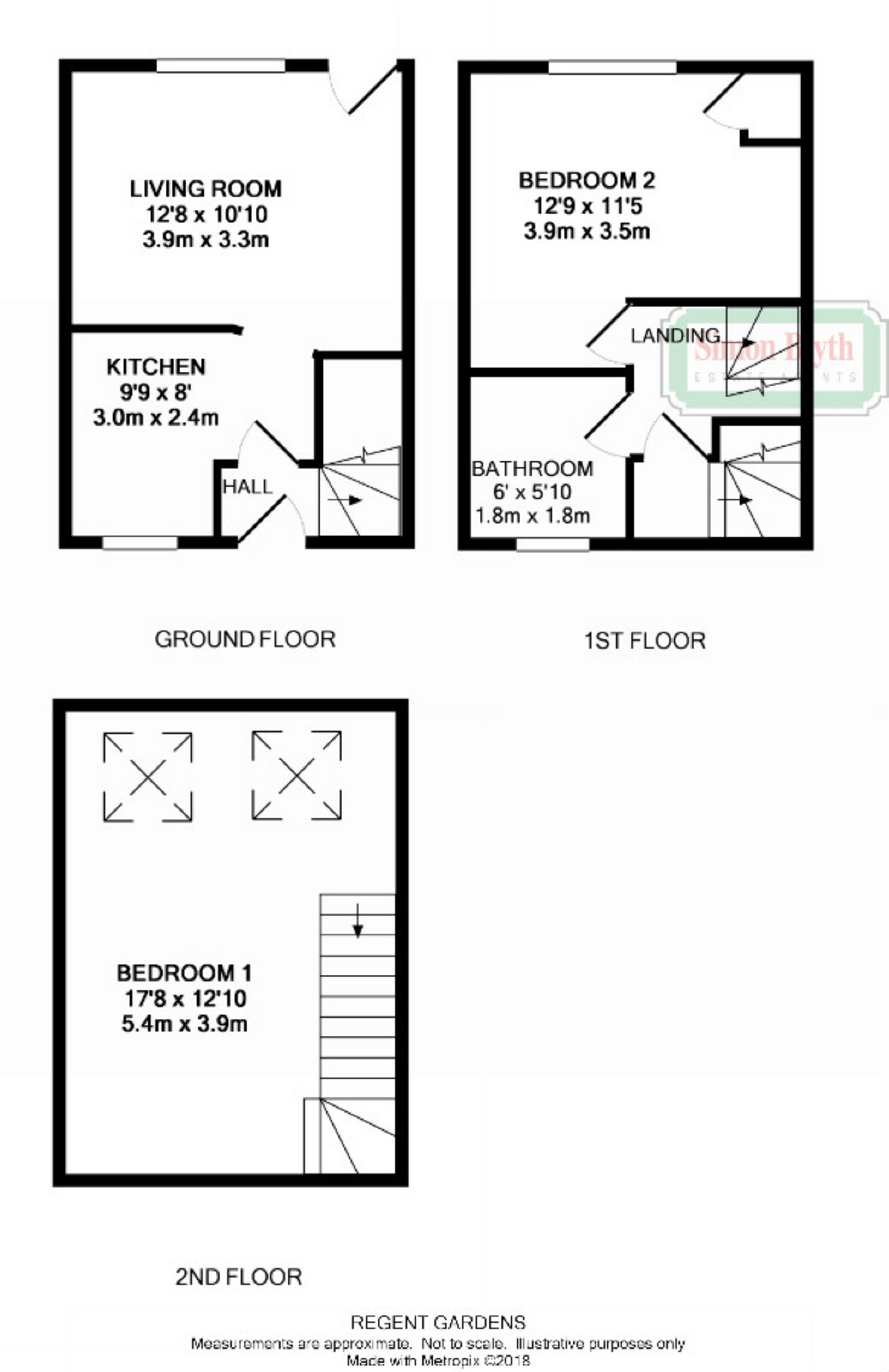 2 bedroom property for sale in regent gardens penistone sheffield view floor plan ccuart Gallery