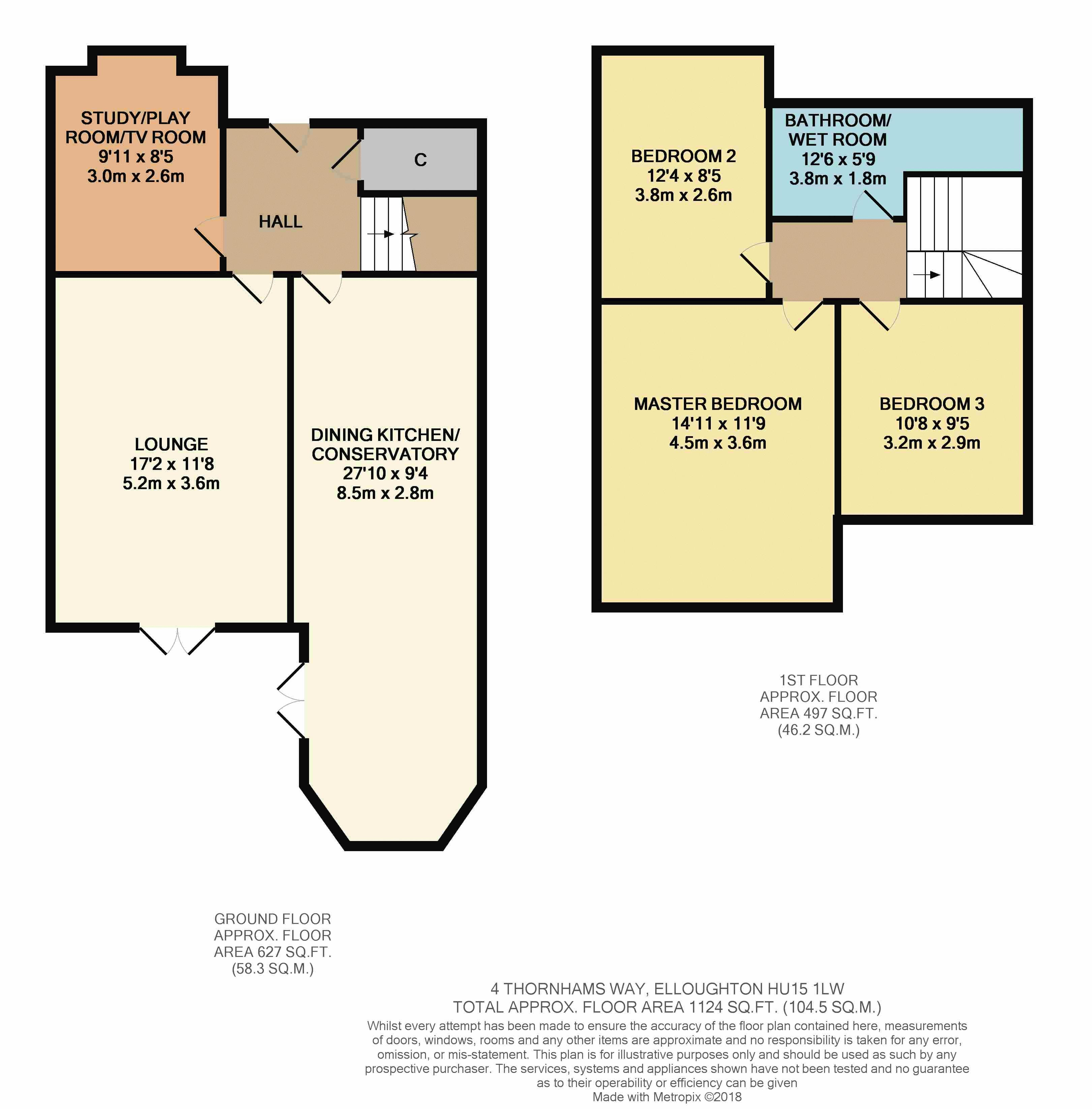 3 bedroom property in thornhams way elloughton 220 000