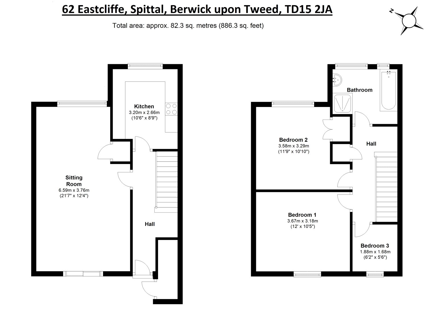 Floorplans for Eastcliffe, Spittal, Berwick-Upon-Tweed, TD15