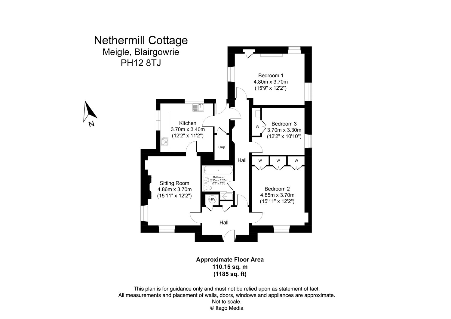 Floorplans for Newtyle, Blairgowrie, Perthshire, PH12