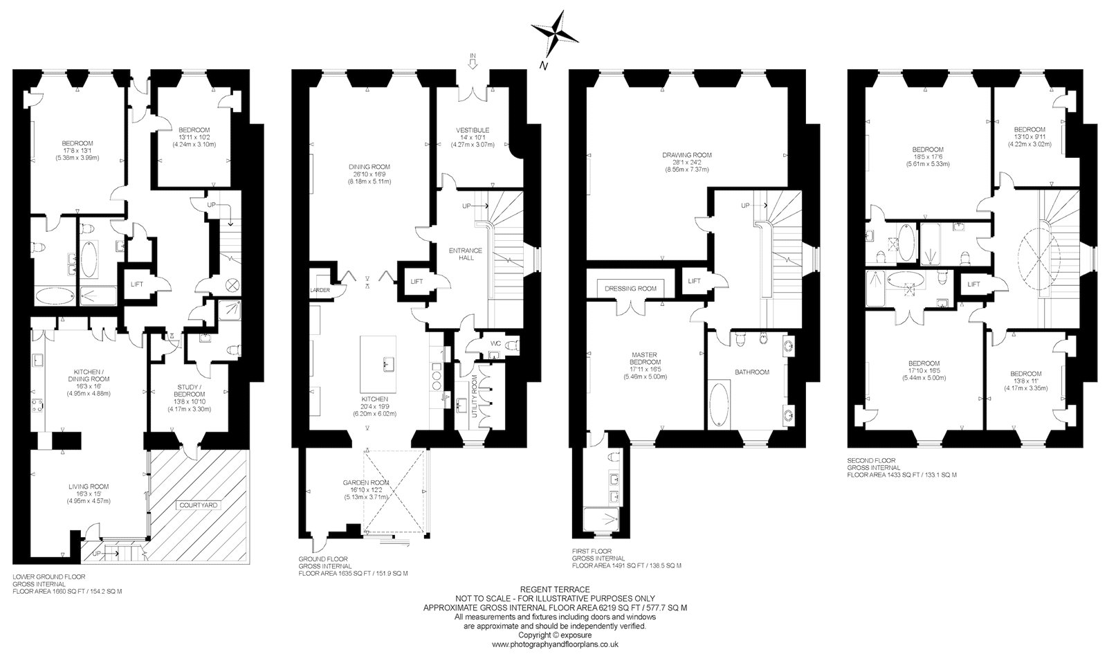 Floorplans for Regent Terrace, Edinburgh, EH7