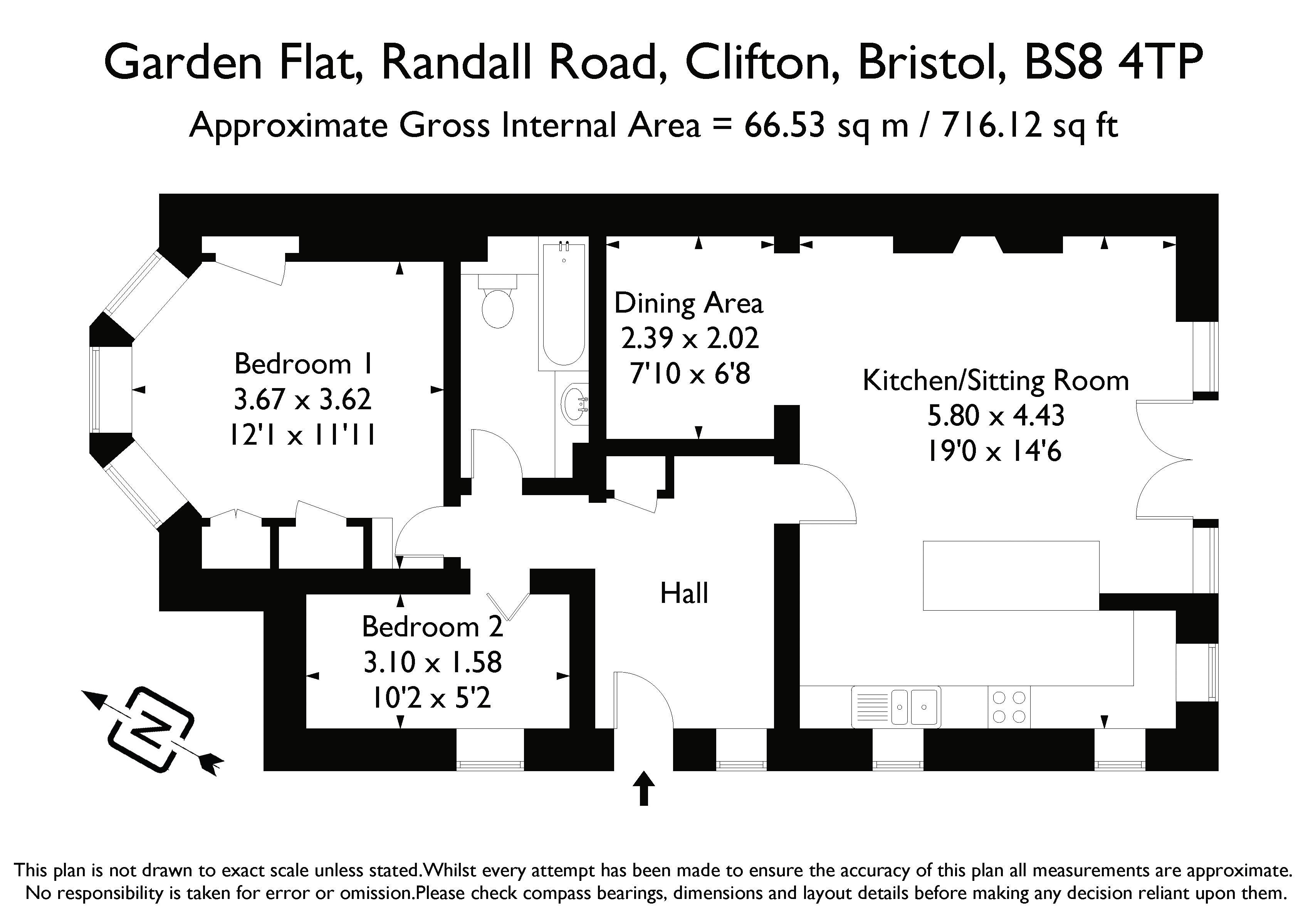 2 bedroom property for sale in Randall Road, Clifton - Guide