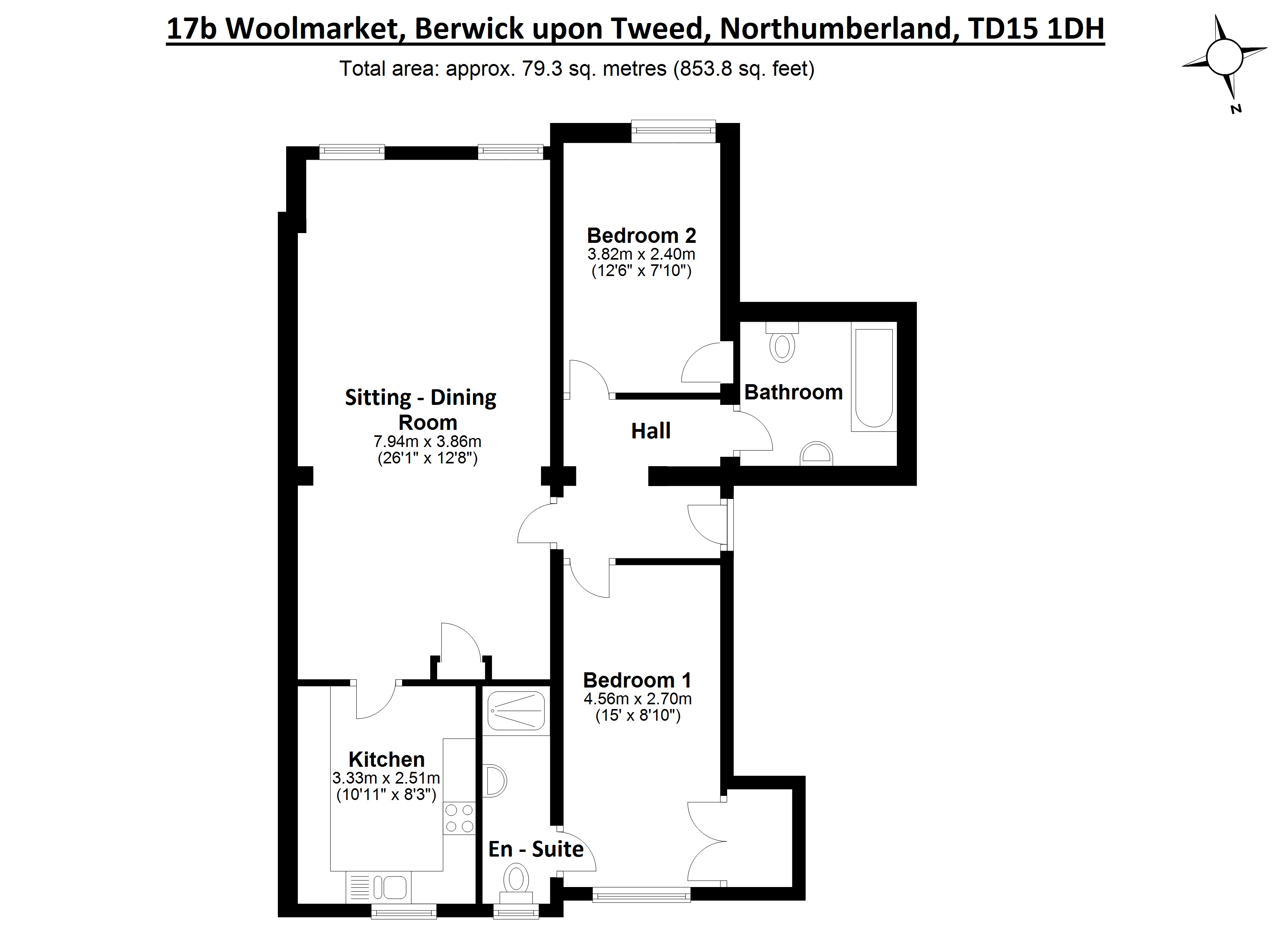 Floorplans for Woolmarket, Berwick-upon-Tweed, Northumberland, TD15