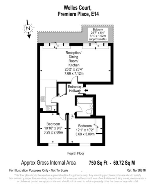 Premiere Place, London, E14 floorplan
