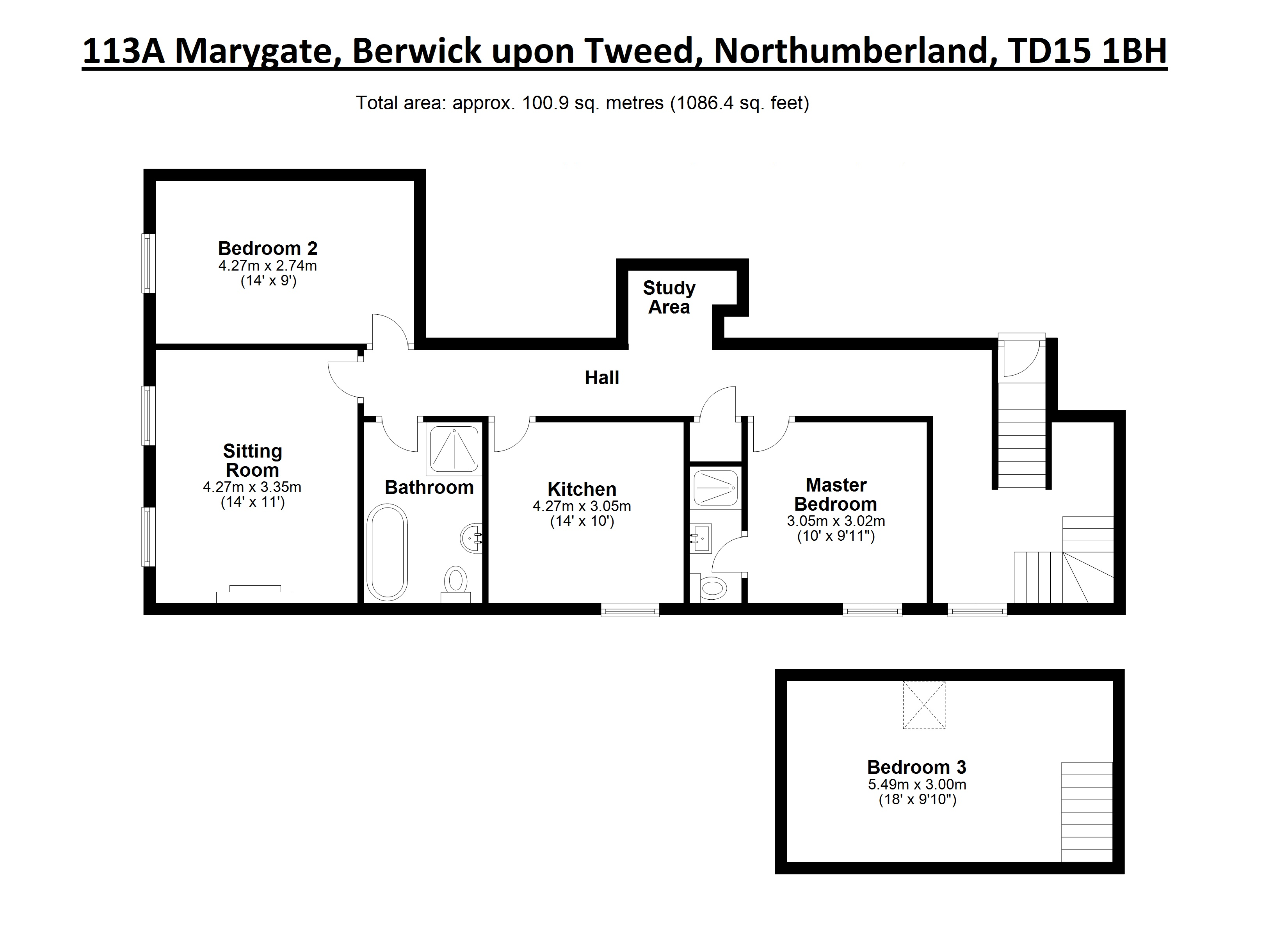 Floorplans for Marygate, Berwick-upon-Tweed, Northumberland, TD15