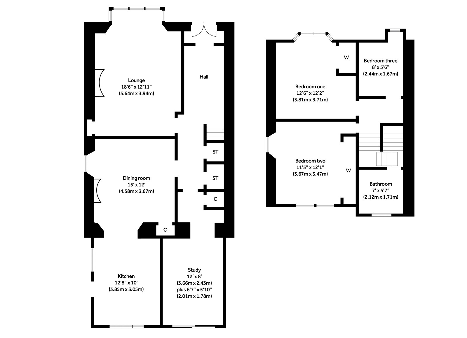 Floorplans for North Erskine Park, Bearsden, G61