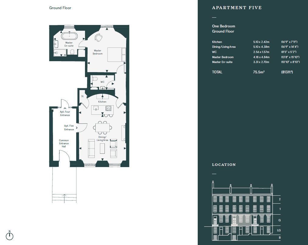 Floorplans for 34/1 Great King Street, Edinburgh, Midlothian, EH3
