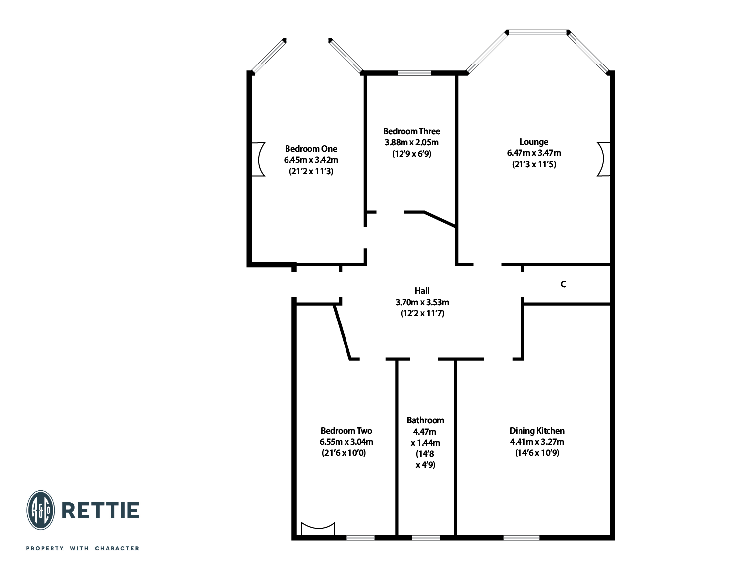 Floorplans for Kirklee Quadrant, Kirklee, Glasgow, G12