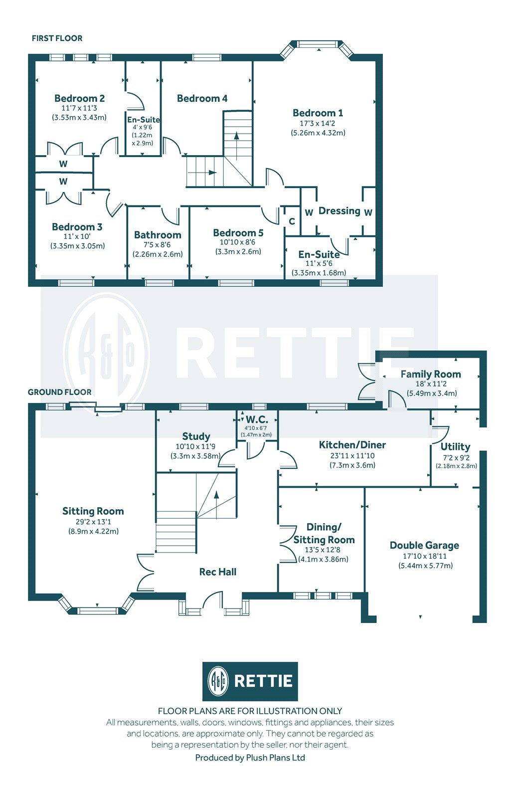 Floorplans for Primrose Avenue, Newton Mearns, G77