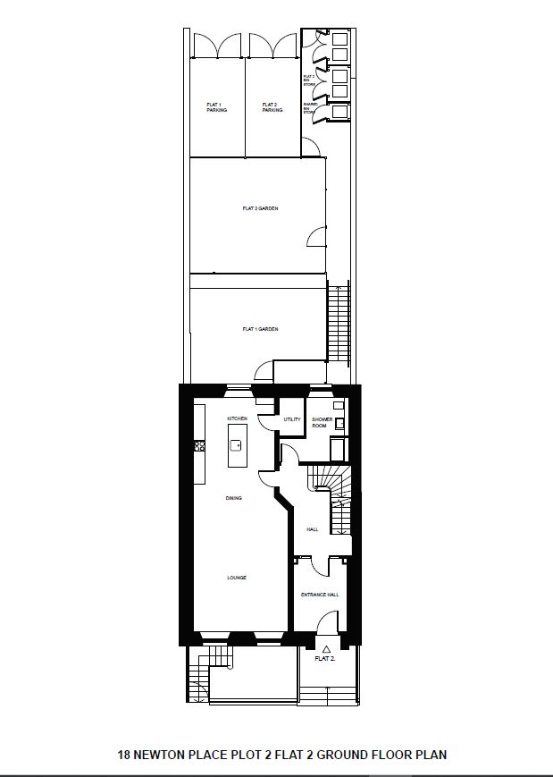 Floorplans for Newton Place, Ground & First Floor, Park, Glasgow, G3
