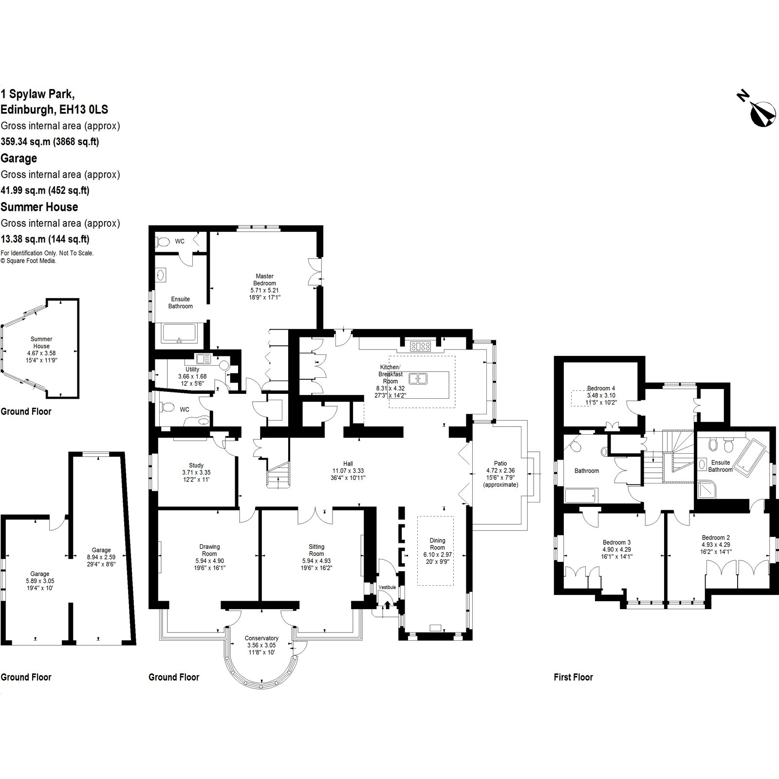Floorplans for Spylaw Park, Edinburgh, EH13
