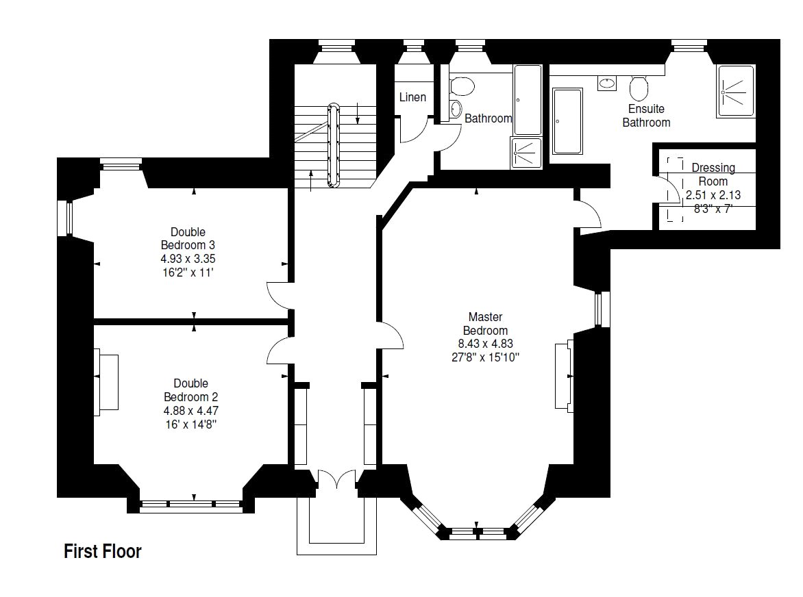 Floorplans for Comely Park House, 80 New Row, Dunfermline, KY12