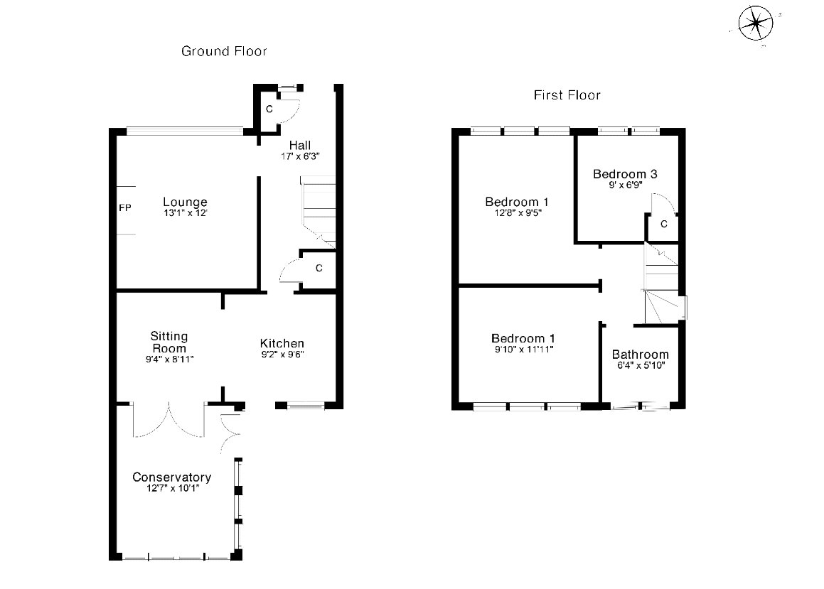 Floorplans for Kinnaird Crescent, Bearsden, G61