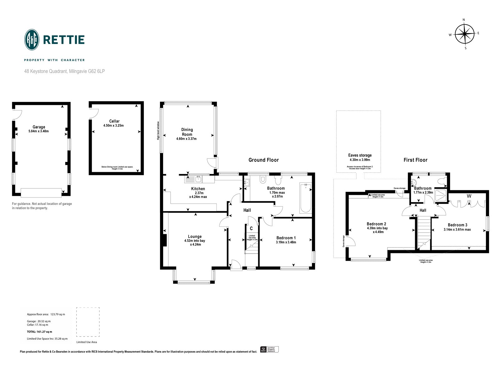 Floorplans for Keystone Quadrant, Milngavie, Glasgow, G62