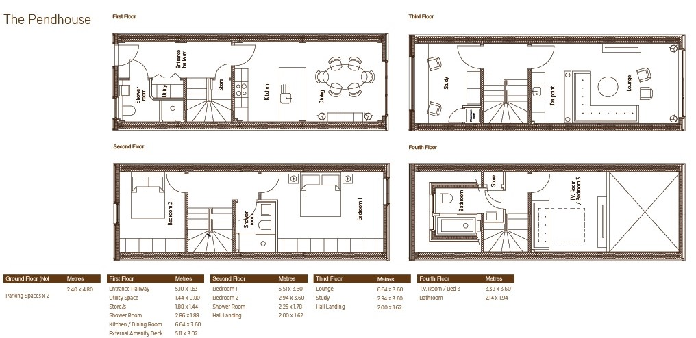 Floorplans for The Havelock Development, Havelock Street, Glasgow, G11