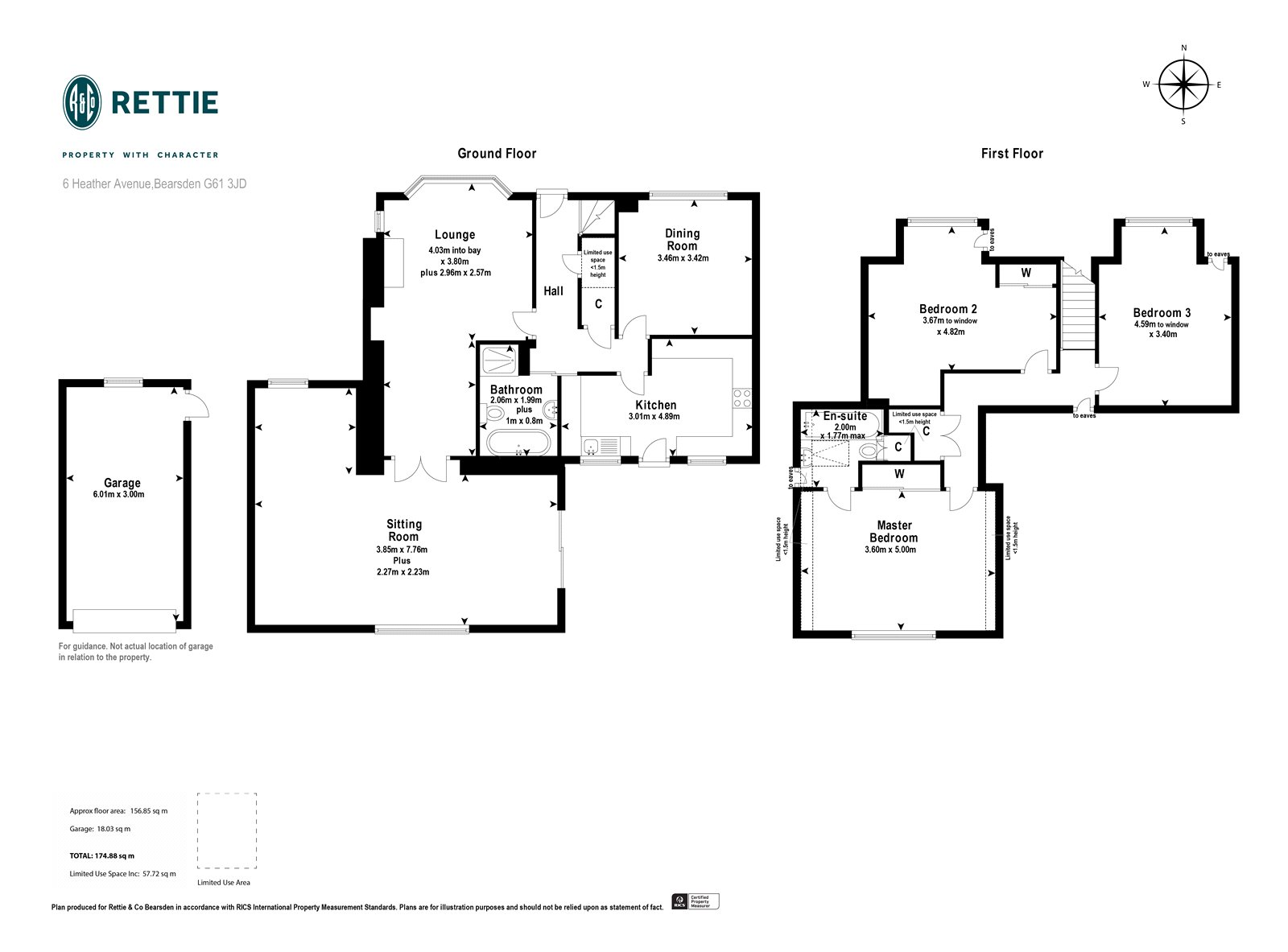 Floorplans for Heather Avenue, Bearsden, G61