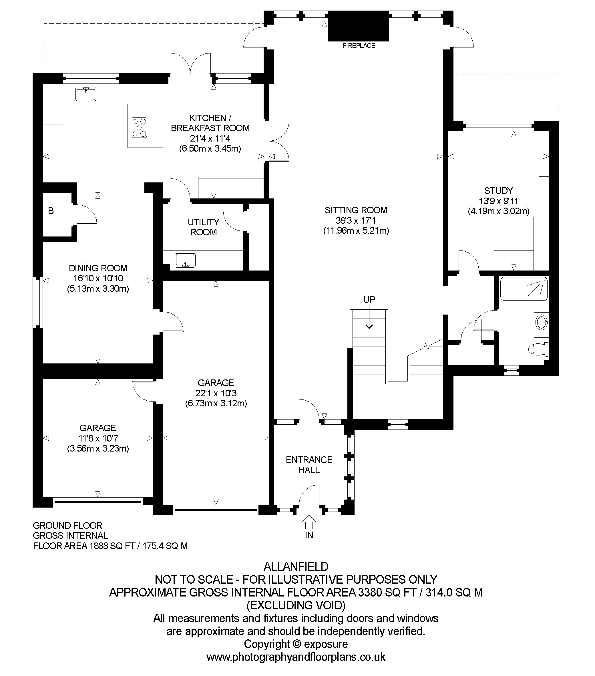 Floorplans for Allanfield, Auchterarder, Perthshire, PH3