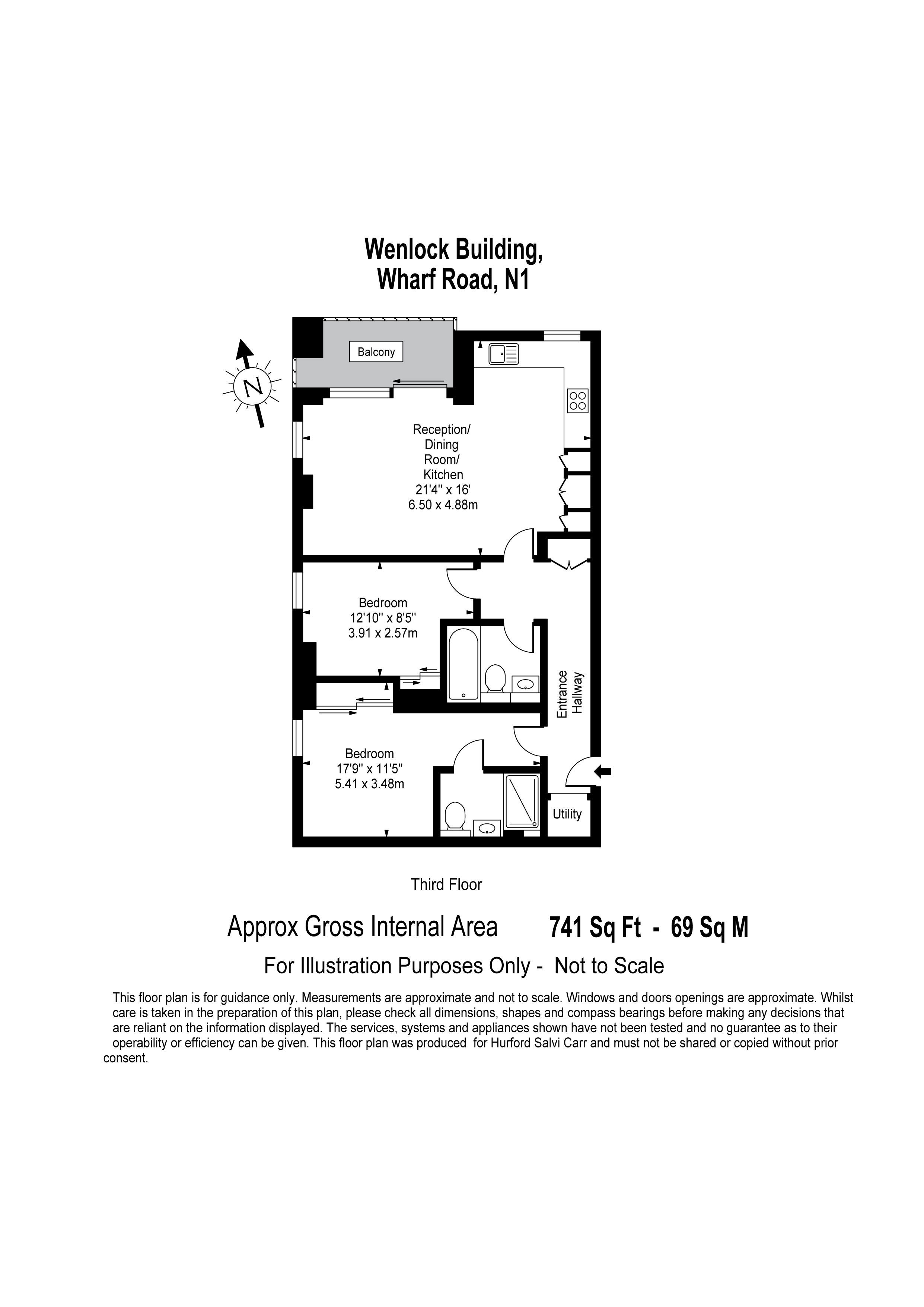 Wenlock Building, 56 Wharf Road, London, N1 floorplan