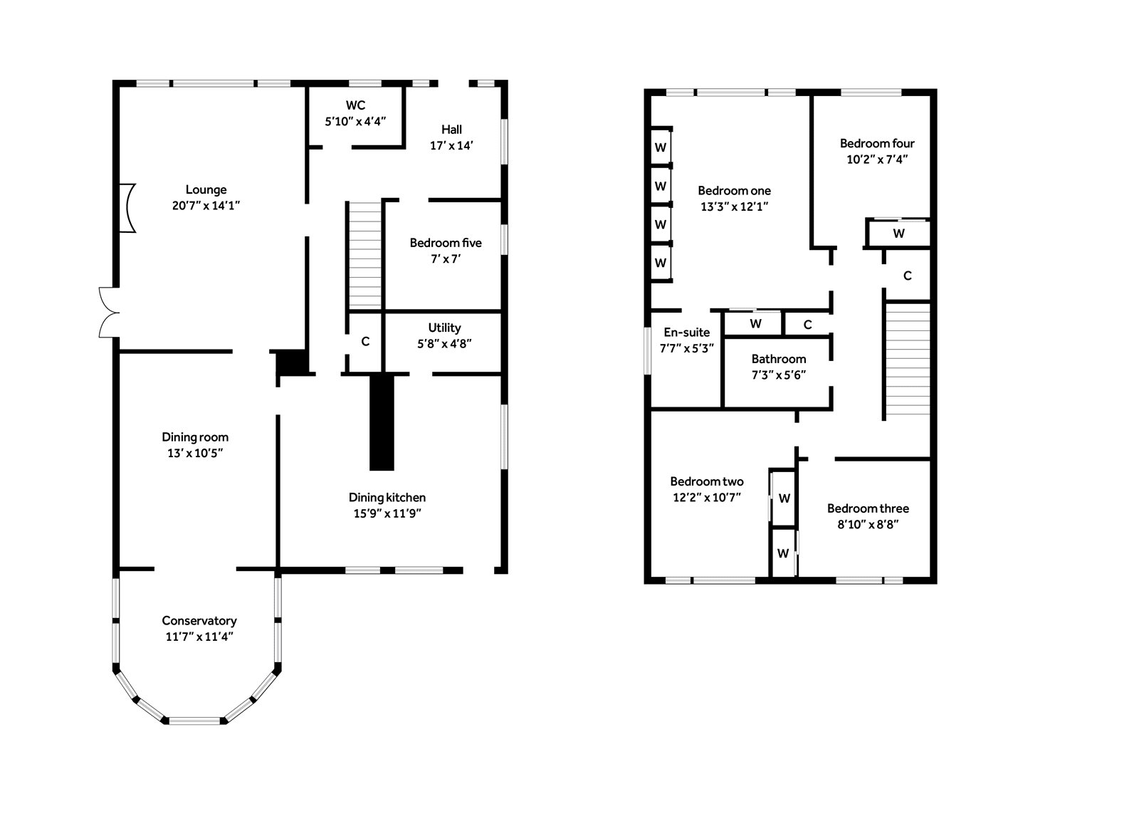 Floorplans for Prestonfield, Milngavie, G62