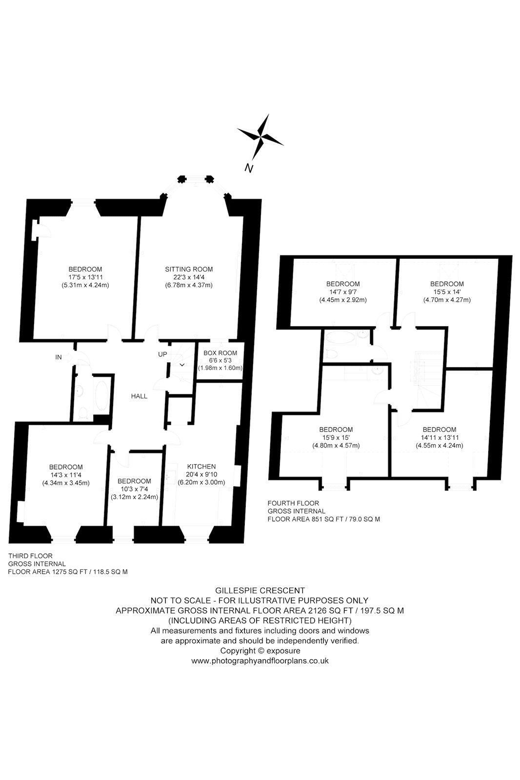 Floorplans for Gillespie Crescent, Edinburgh, EH10