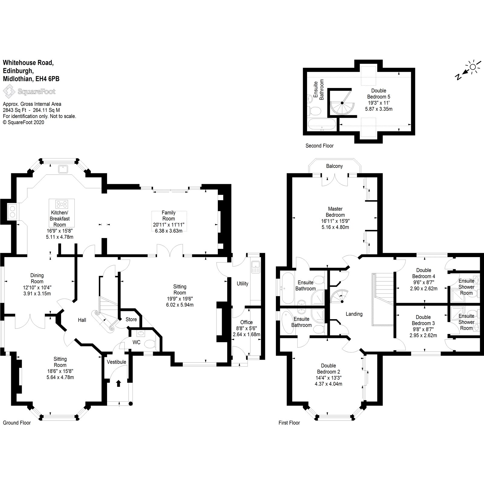 Floorplans for Whitehouse Road, Edinburgh, EH4