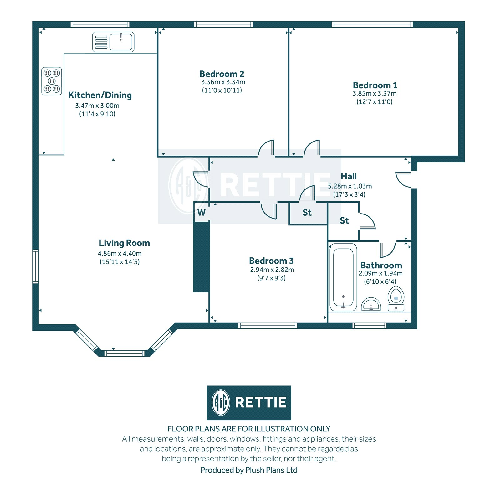 Floorplans for Weymouth Drive, Kelvindale, Glasgow, G12