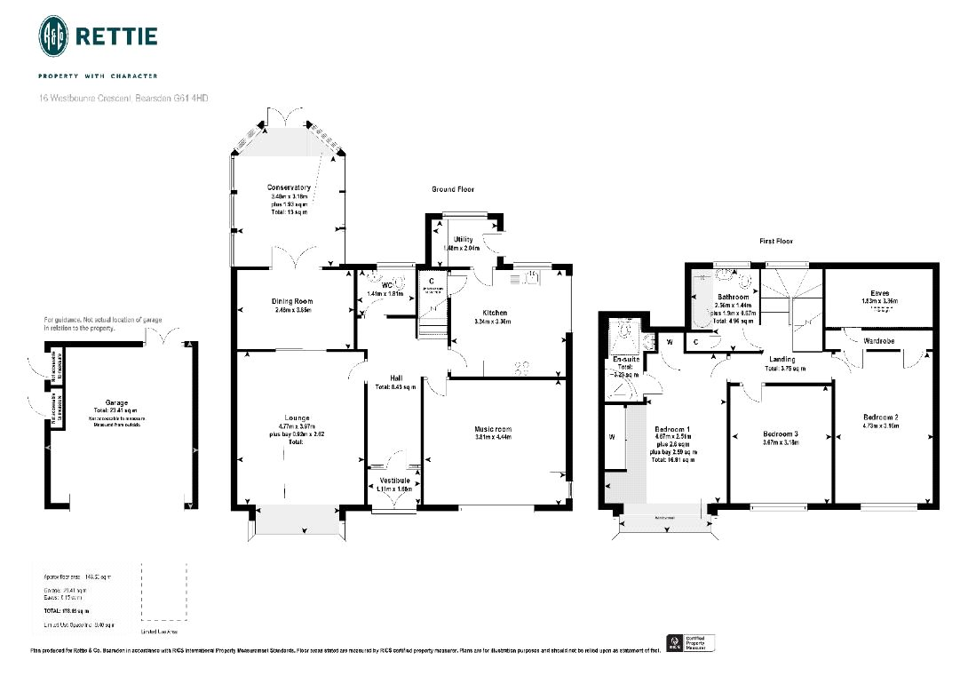 Floorplans for Westbourne Crescent, Bearsden, G61
