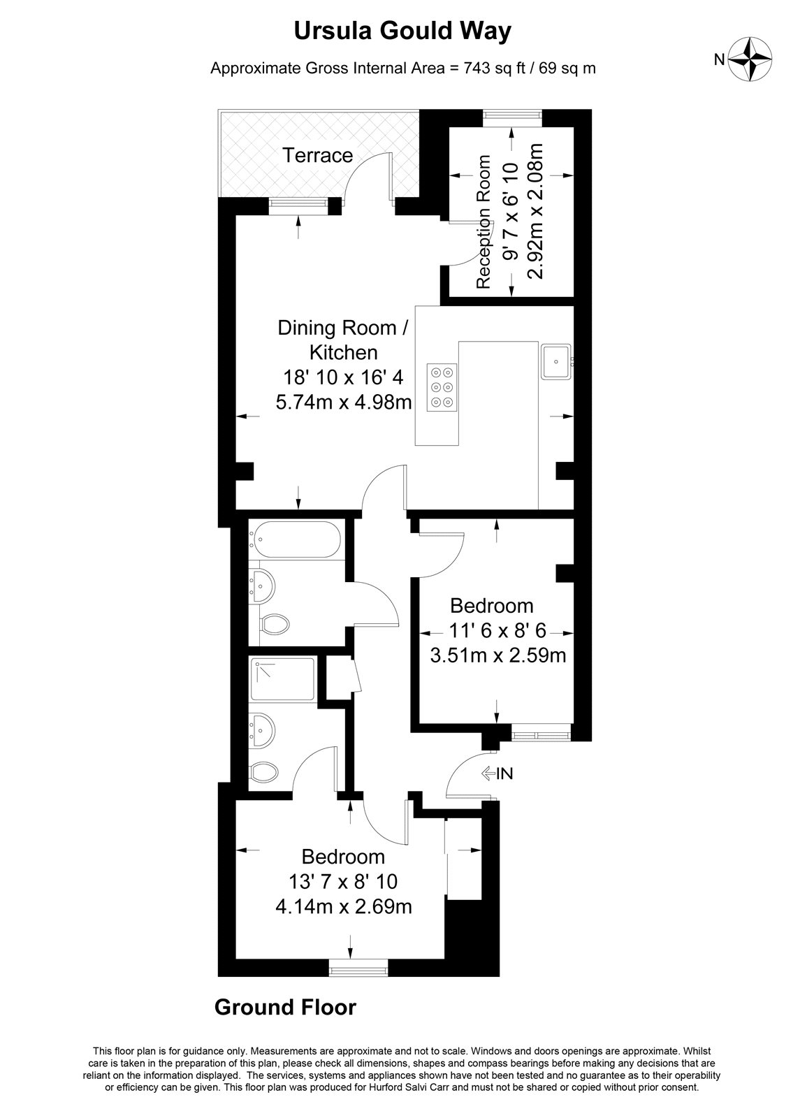 Ursula Gould Way, Limehouse Cut, E14 floorplan