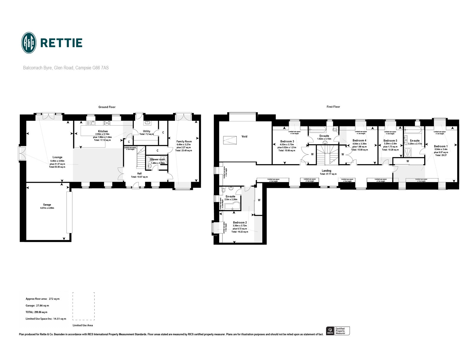 Floorplans for Glen Road, Campsie Glen, G66