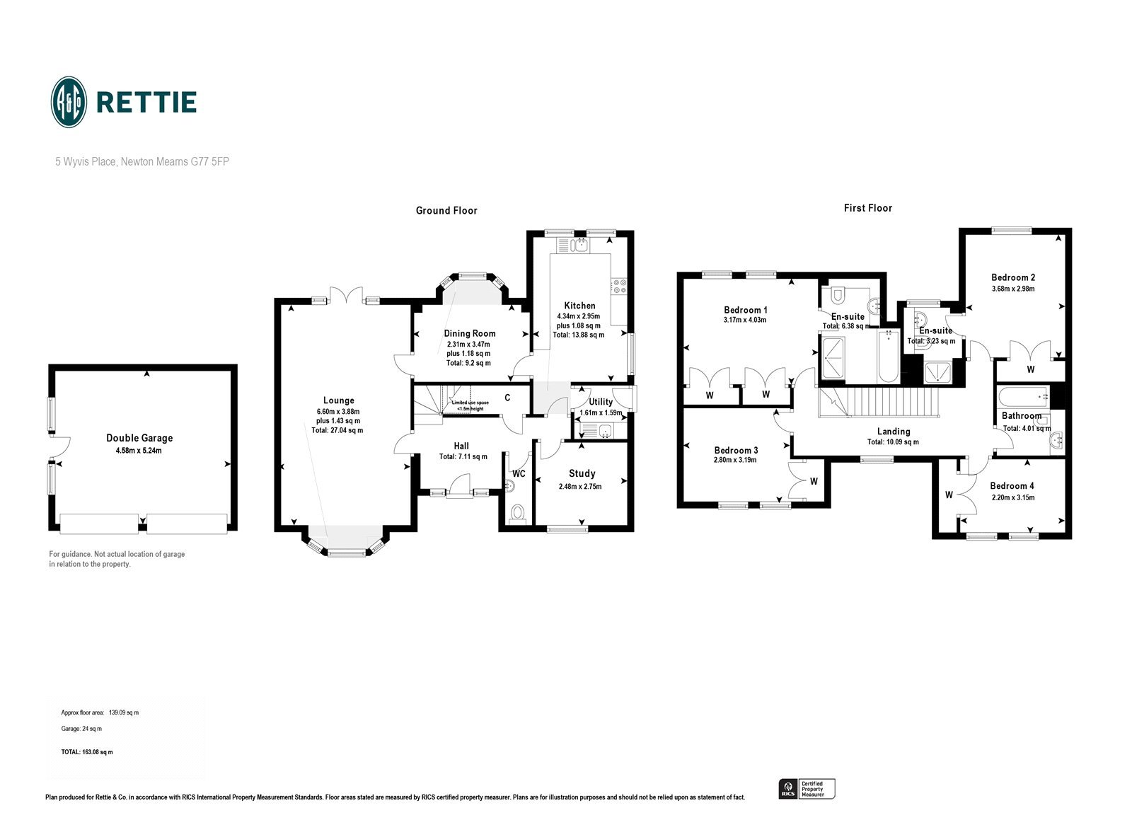 Floorplans for Wyvis Place, Mearnskirk, Newton Mearns, G77