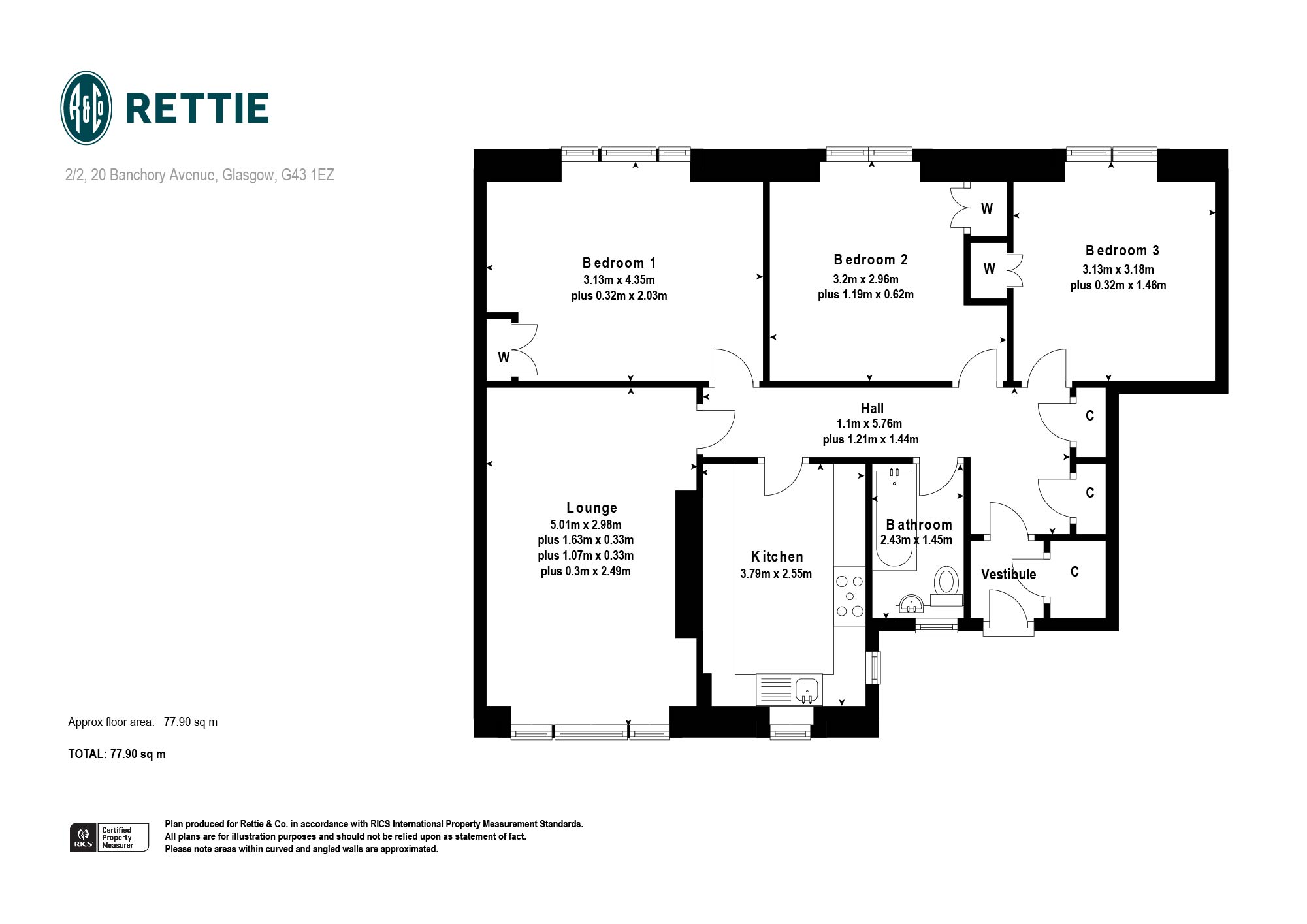 Floorplans for Banchory Avenue, Eastwood, G43