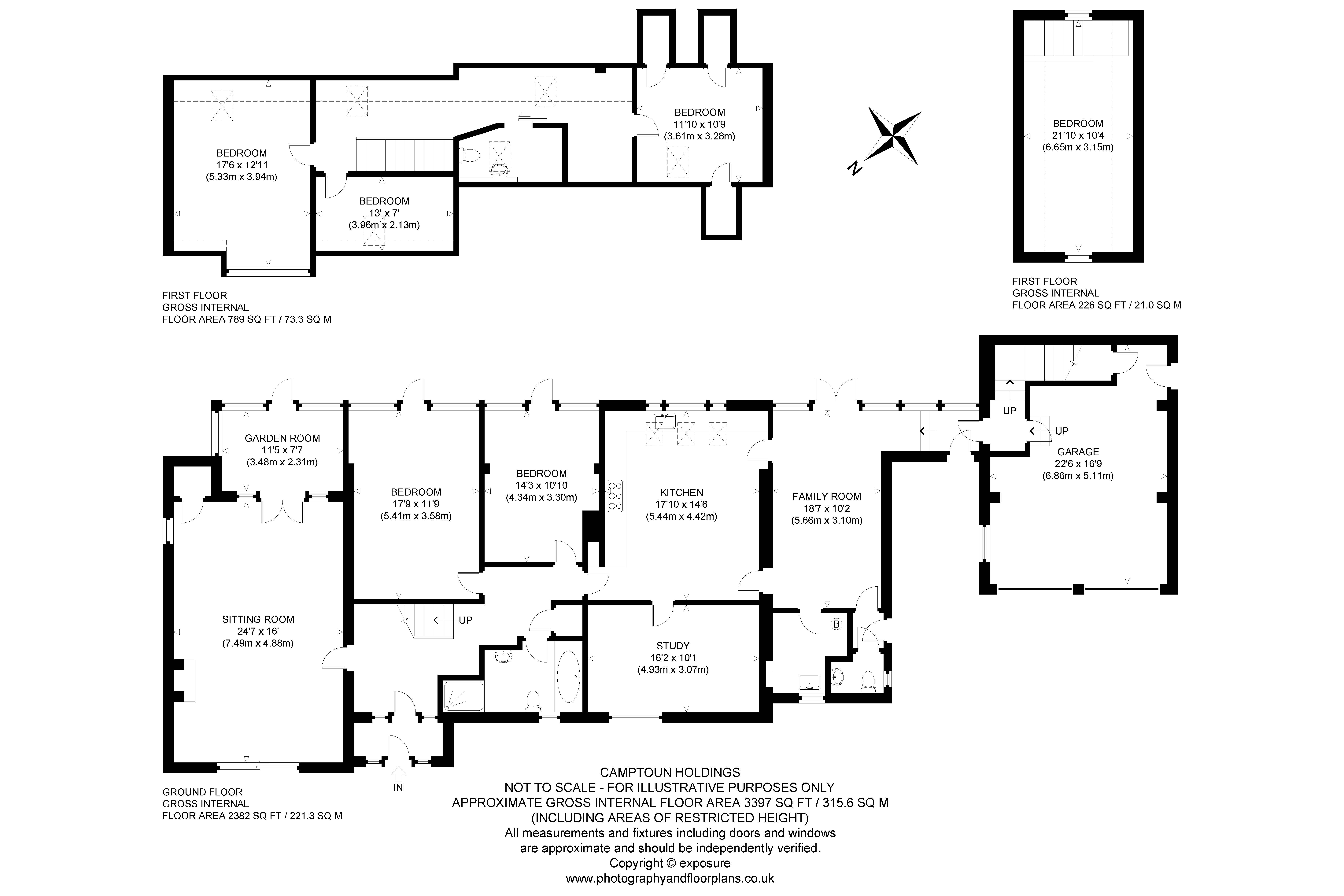 Floorplans for 11 Camptoun Holdings, Drem, North Berwick, EH39