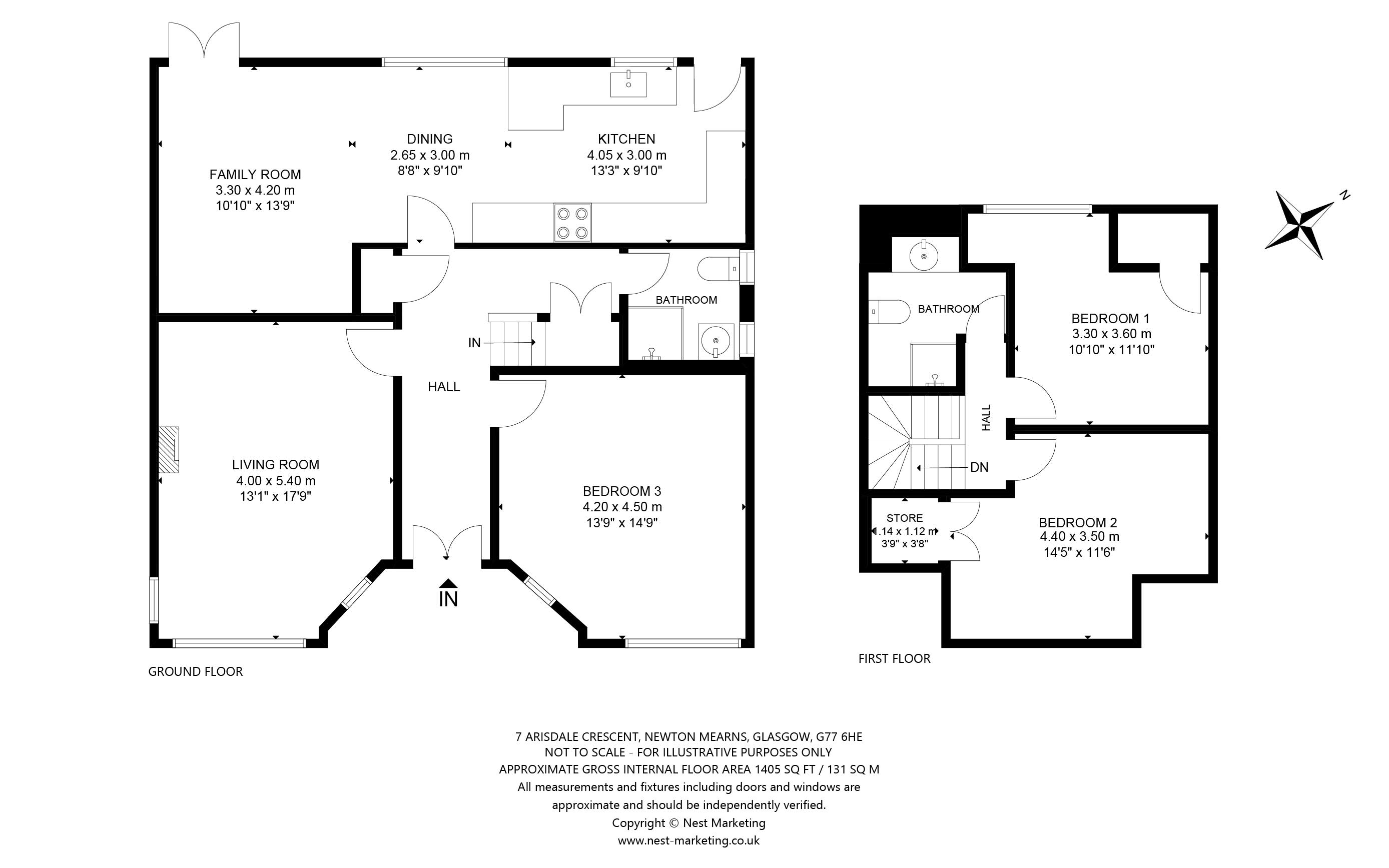 Floorplans for Arisdale Crescent, Newton Mearns, Glasgow, G77