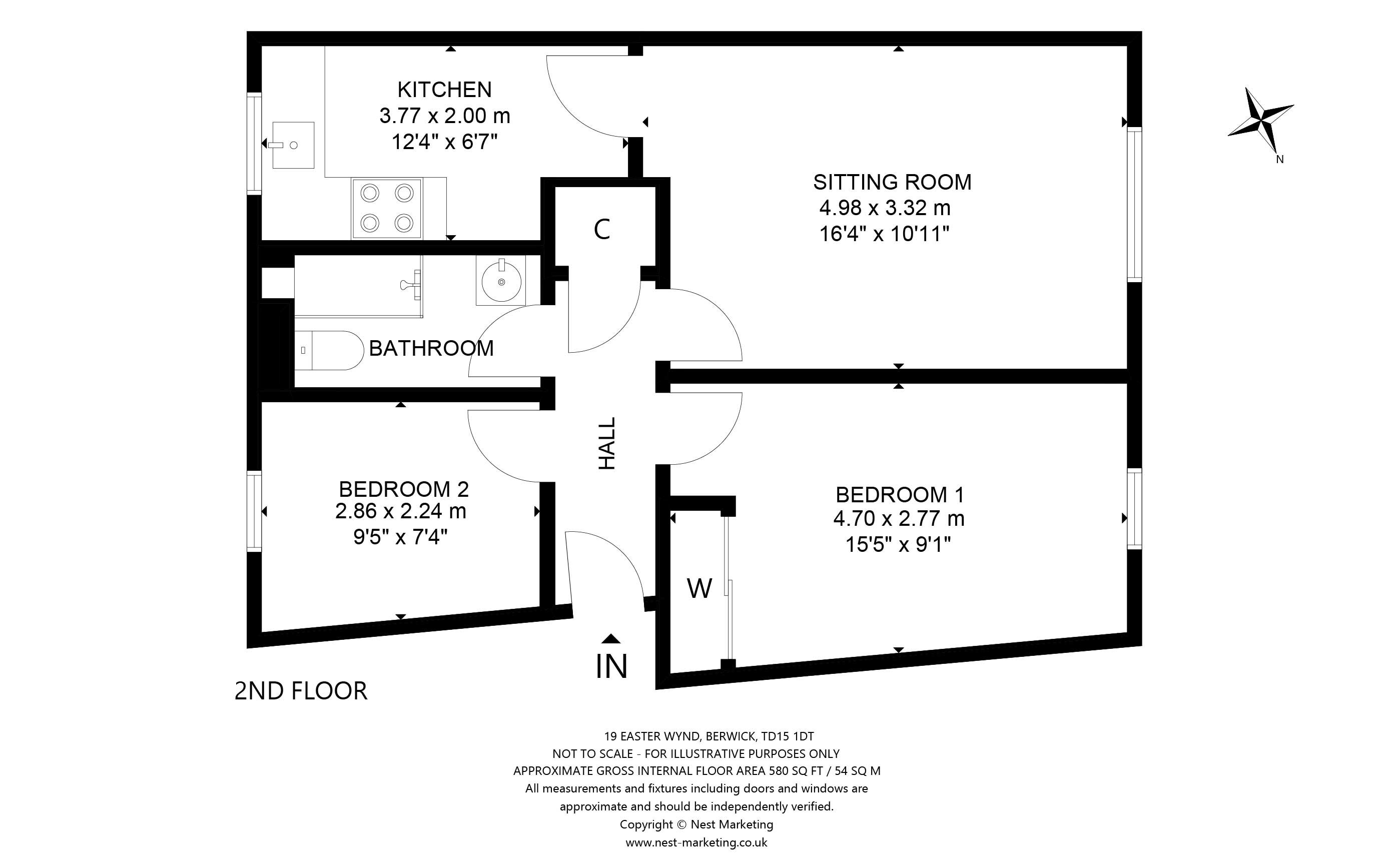 Floorplans for Easter Wynd, Berwick-upon-Tweed, Northumberland, TD15