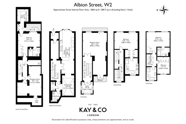 Floorplan for Albion Street, Hyde Park, London, W2