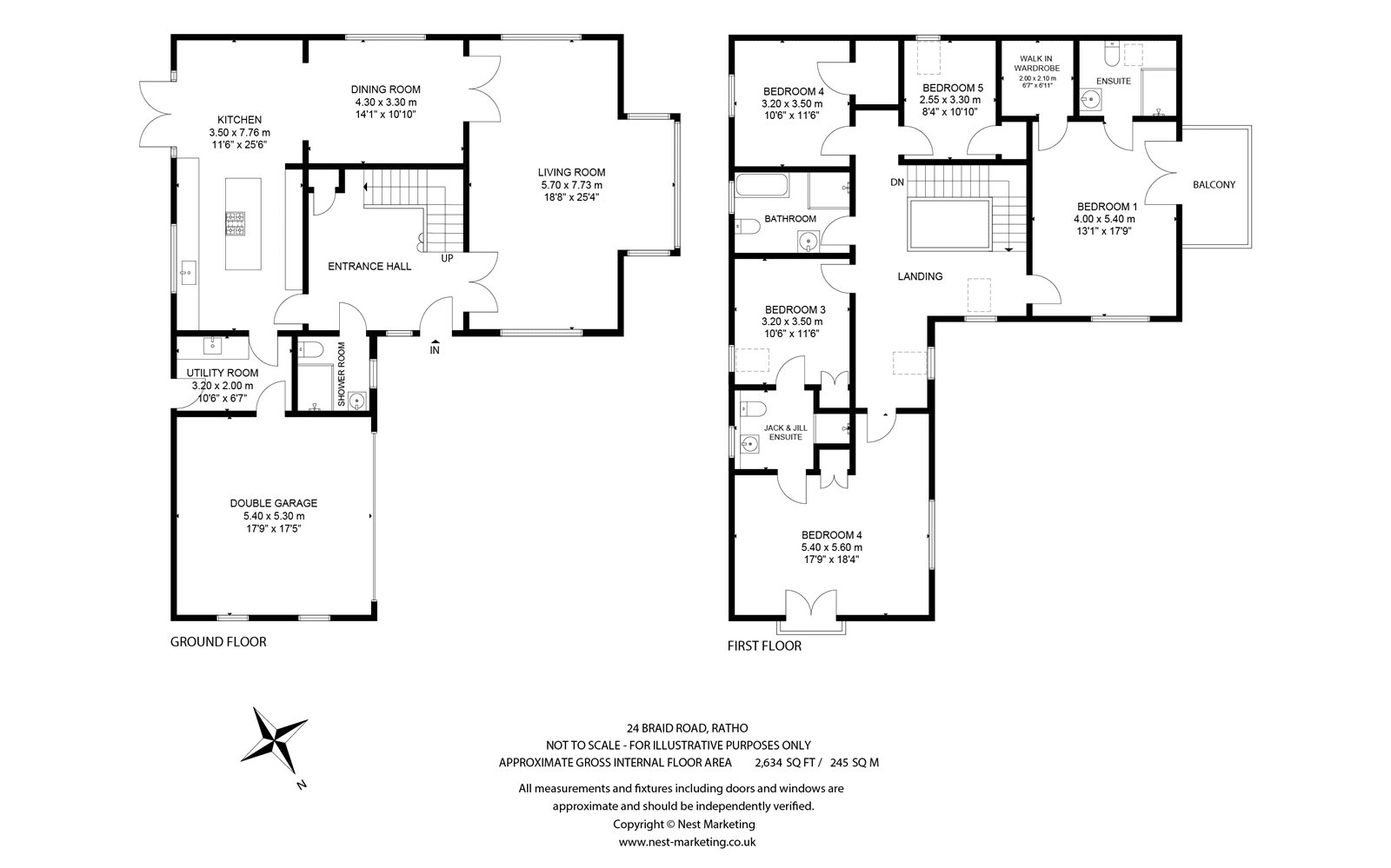 Floorplans for Marina View House, 24 Baird Road, Ratho, EH28