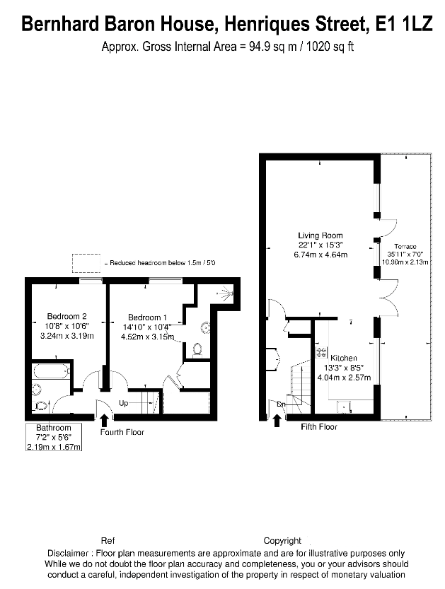 Henriques Street, London, London, E1 floorplan