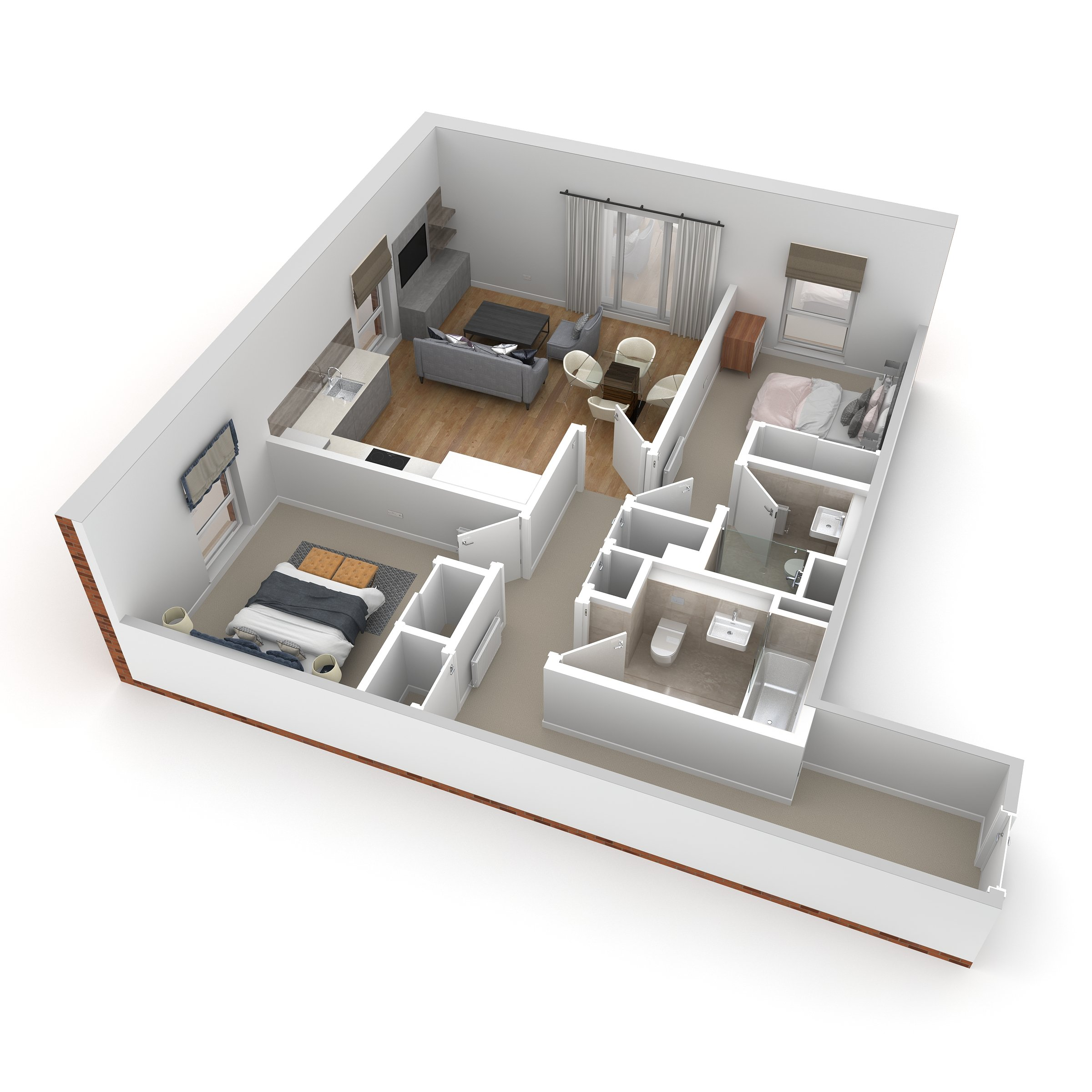 Floorplans for Apartment 6, 79 Durham Road, Edinburgh, Midlothian, EH15