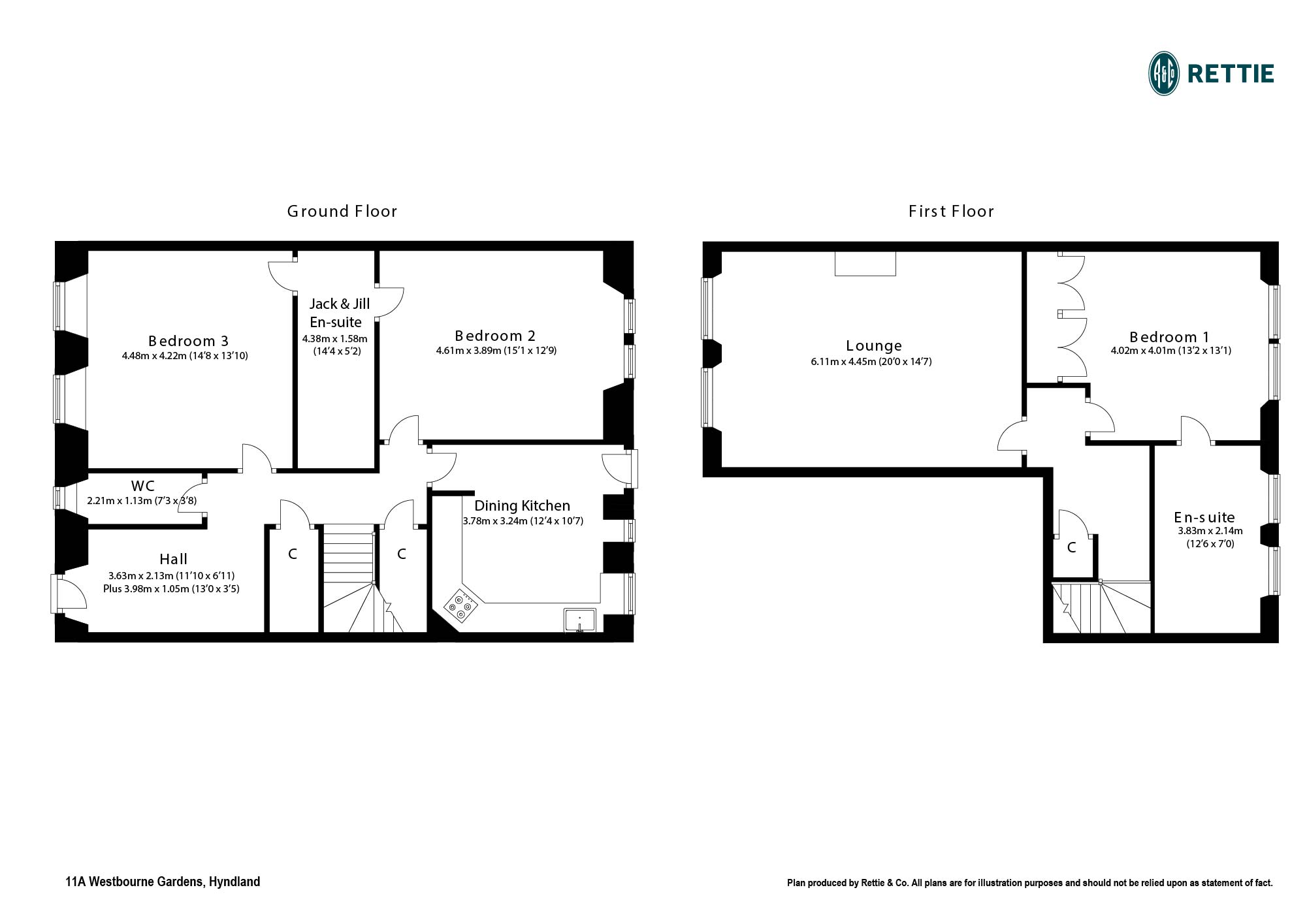 Floorplans for Westbourne Gardens, Hyndland, Glasgow, G12