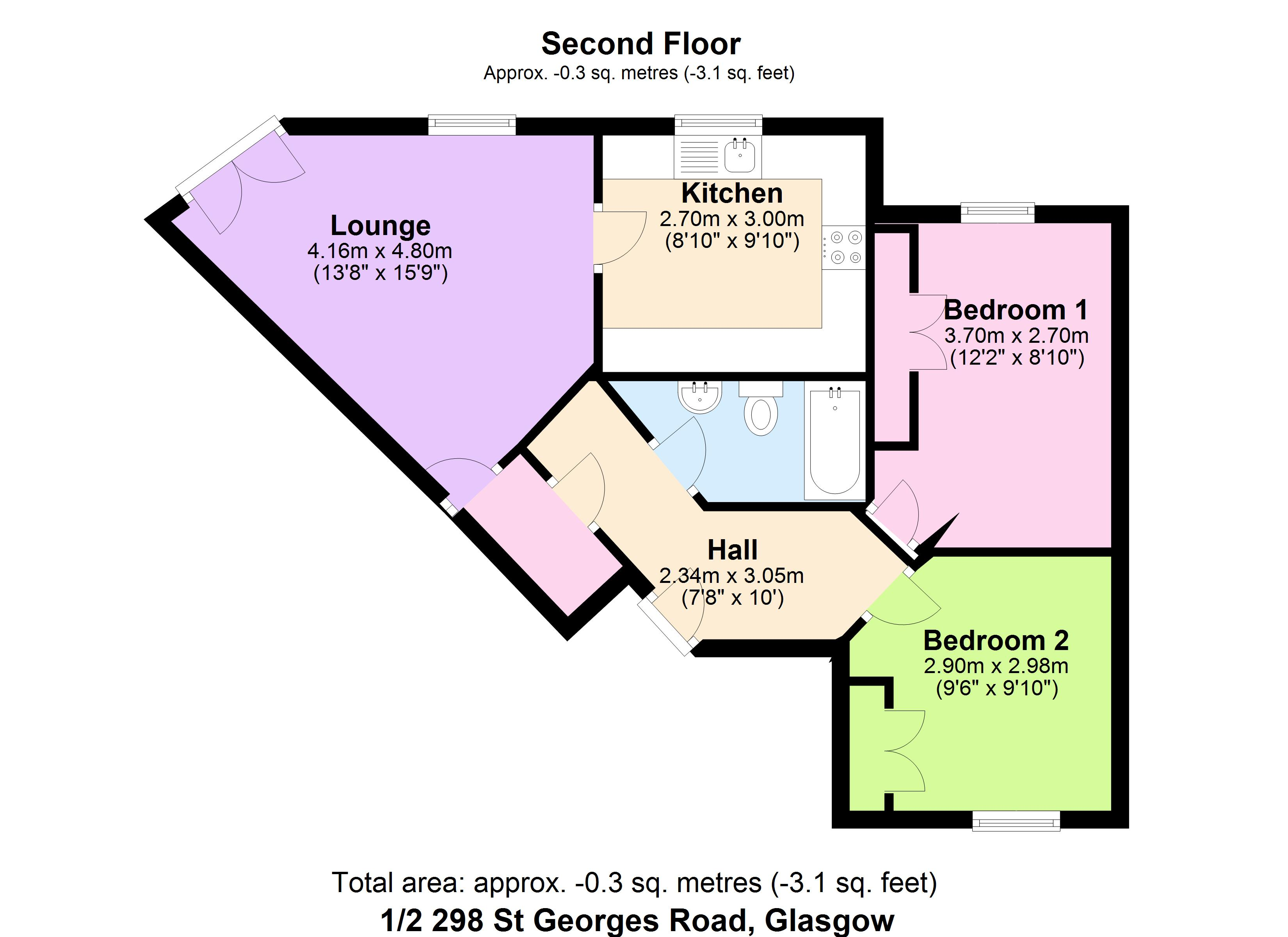Floorplans for St. Georges Road, Glasgow, G3