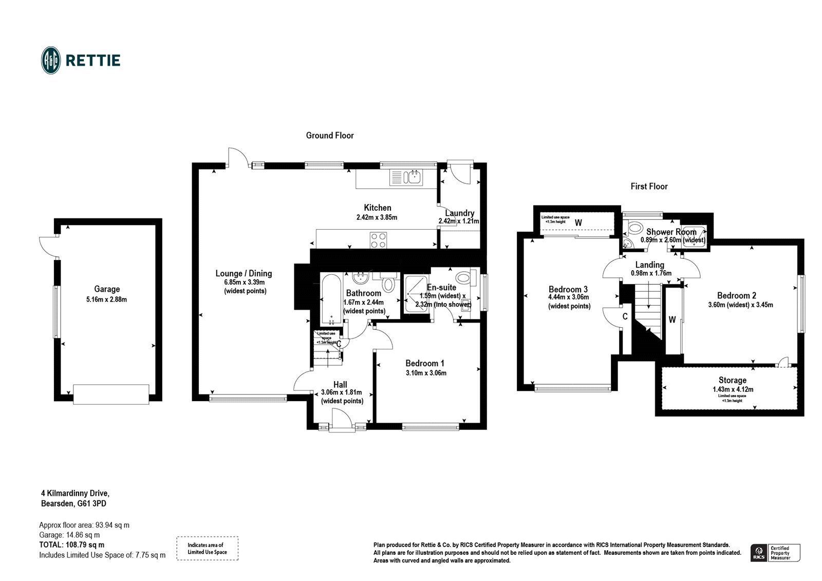 Floorplans for Kilmardinny Drive, Bearsden, Glasgow, G61
