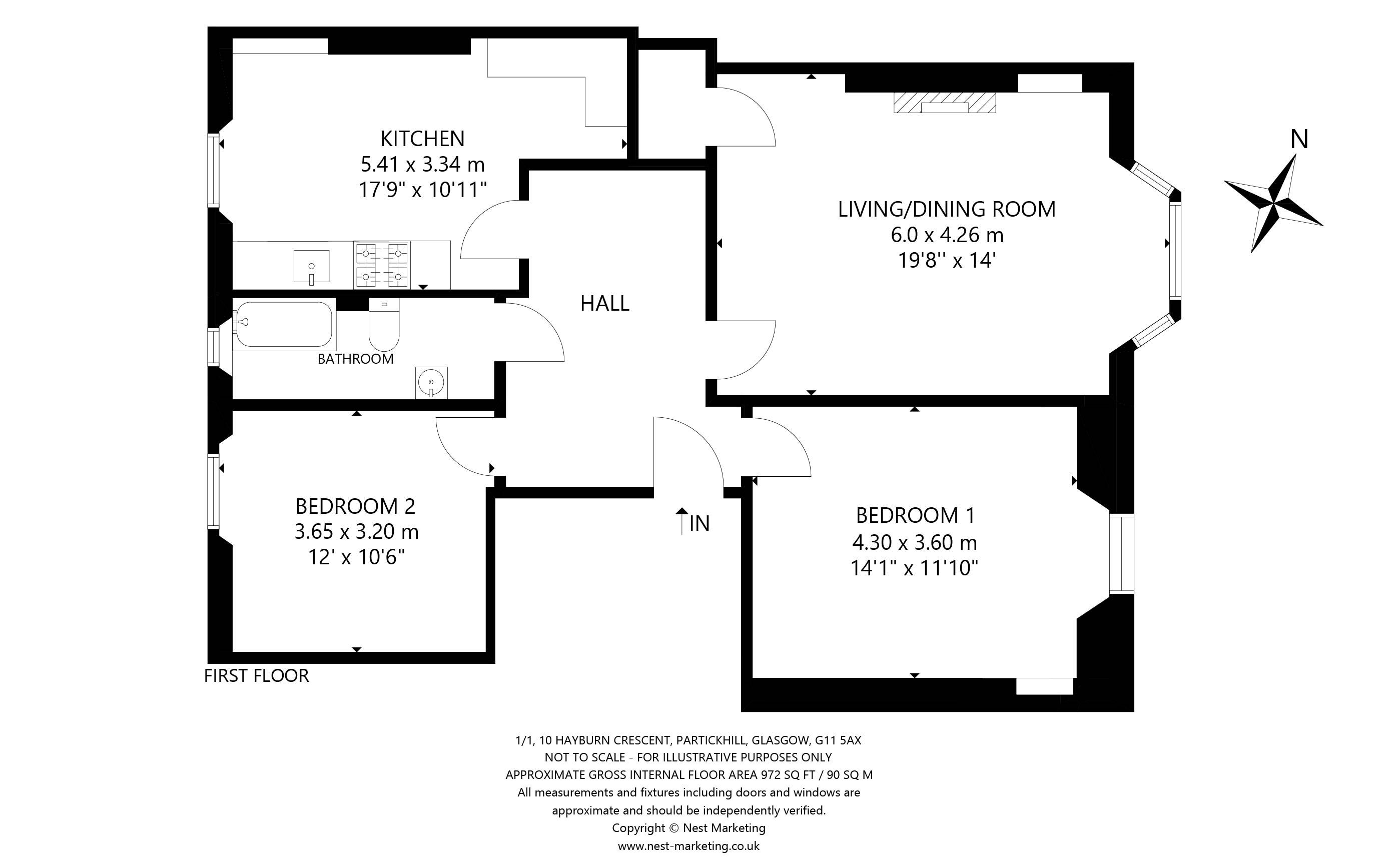 Floorplans for Hayburn Crescent, Partickhill, Glasgow, G11