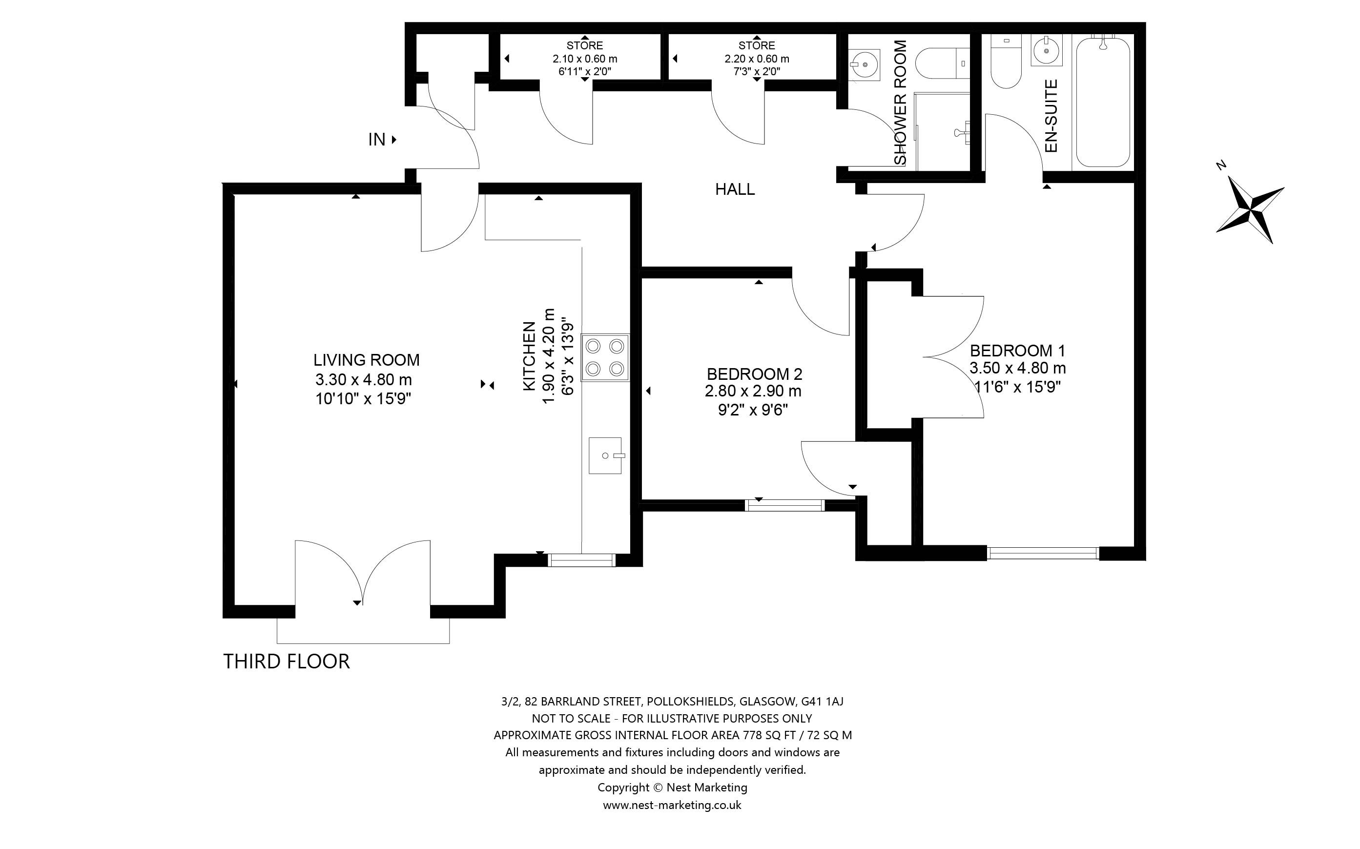 Floorplans for Barrland Street, Pollokshields, Glasgow, G41